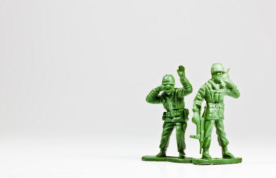 Green toy soldiers