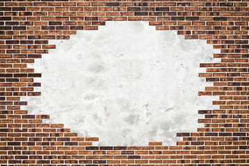 Brick wall (frame) and cement background