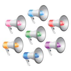 Megaphones Icon Set