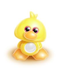 Whimsical Kawaii Cute Duck