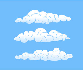Printed roller blinds Heaven Cartoon Vector Clouds, blue sky