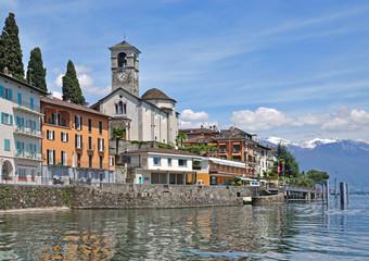 der beliebte Urlaubsort Brissago am Lago Maggiore