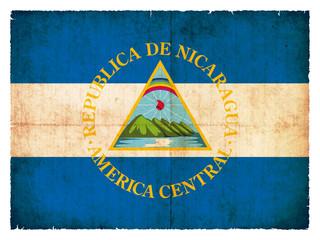 Grunge-Flagge Nicaragua