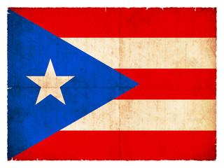 Grunge-Flagge Puerto Rico (USA)