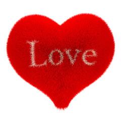 Soft fleecy heart