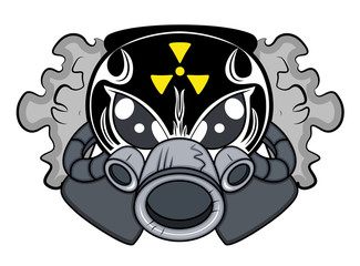 Toxic Mascot Tattoo Vector