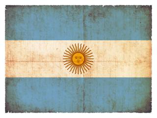 Grunge-Flagge Argentinien