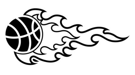 Sport Ball Flame Tattoo