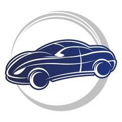 Fototapete - blu car logo
