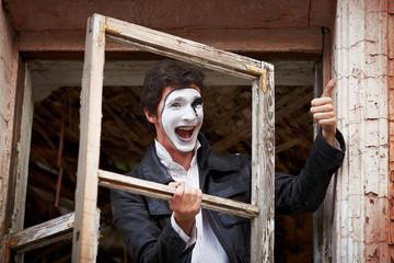 Portrait of a Man mime.