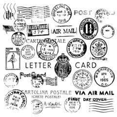 Air Mail Vintage Stamps