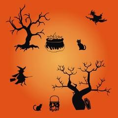 Halloween ~ Hexenkessel ~ Zaubertrank ~ Hexentrank - Megaset