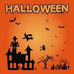 Halloween ~ Hexen ~ Schloß ~ Gräber ~ Spinnen - Megaset