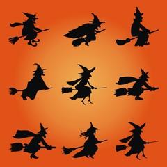 Halloween ~ Hexen ~ Besen ~ Fliegen - Megaset