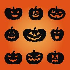 Halloween ~ Kürbis ~ Gesicht - Megaset