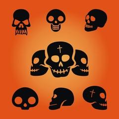 Halloween ~ Totenkopf ~ Schädel - Megaset