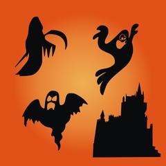 Halloween ~ Gespenster ~ Geister - Megaset