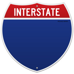 Isolated Interstate Sign