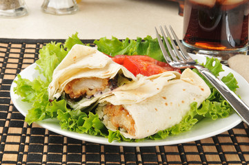 Healthy chicken wraps