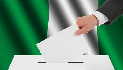 The Nigerian flag