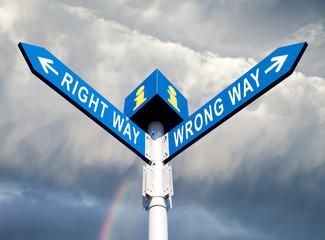 Wrong Way and Right Way