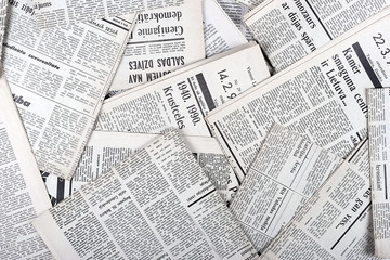 Autocollant pour porte Journaux background of old vintage newspapers