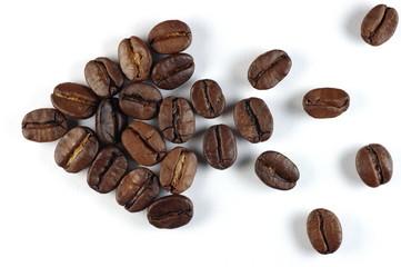 Указатель из кофейных зёрен