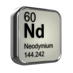 3d Periodic Table - 60 Neodymium