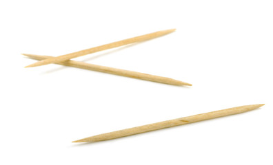 Three bamboo toothpicks