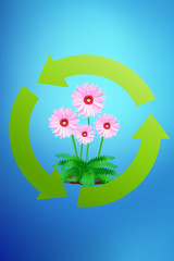 recycle green earth symbol - ecology concept symbol