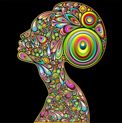 Woman Psychedelic Art Portrait
