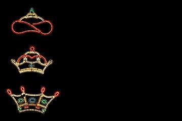 Three Kings Crowns against black © Arena Photo UK