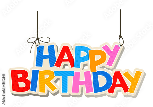 happy birthday greetings fotolia com の ストック画像とロイヤリティ