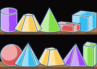 Seamless pattern mathematics solids