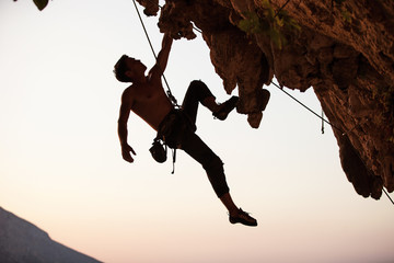 Rock climber Wall mural