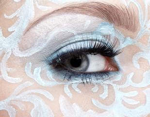 closeup of eyezone bodyart