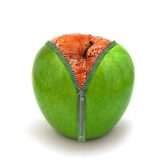 rotten apple in new skin