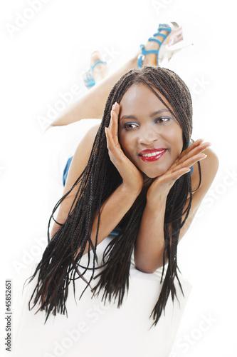 sch ne afrikanische junge frau stockfotos und lizenzfreie bilder auf bild 45852651. Black Bedroom Furniture Sets. Home Design Ideas