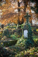 Foto op Canvas Begraafplaats Old evangelical graveyard