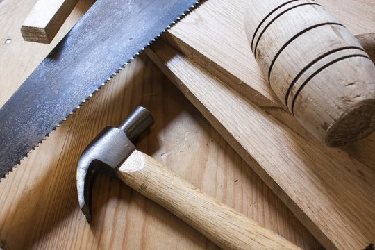 carpentry hammers and saw