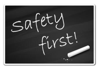 Holztafel Safety First