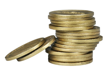 Pile of bronze coins