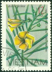 stamp printed in Vietnam shows Nerium oleander