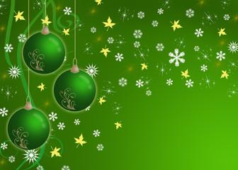 creative christmas card green