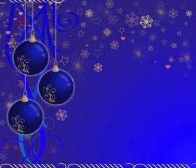 creative christmas card blue