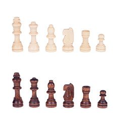 chess figures set isolated over white background