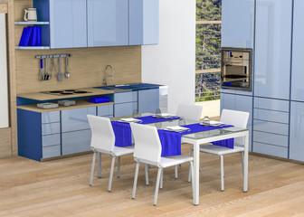 Kitchen - shades of blue