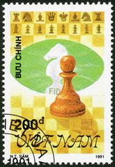 VIETNAM - 1991: shows Pawn, series Chess pieces