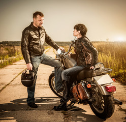 Fototapete - Bikers