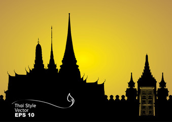 Vector illustration of Bangkok royal palace